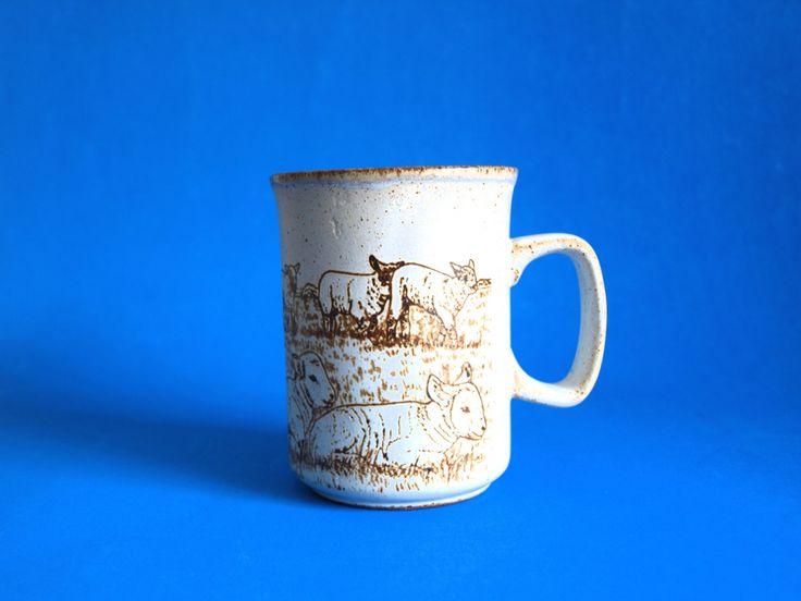Dunoon Scotland Sheep Lamb Farm Mug - Stoneware Pottery Ewe Ram Coffee Cup - Made in Scotland by FunkyKoala on Etsy