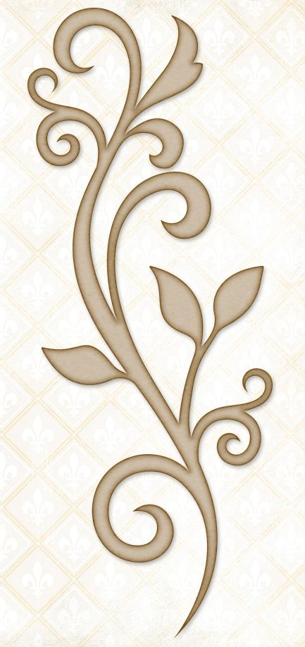 Blue Fern Studios - Chipboard - Blooming Flourish - Use my Silhouette Cameo to cut templates for quilting!!!!