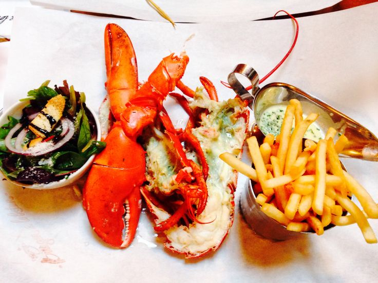 Lobster and burger in Mayfair