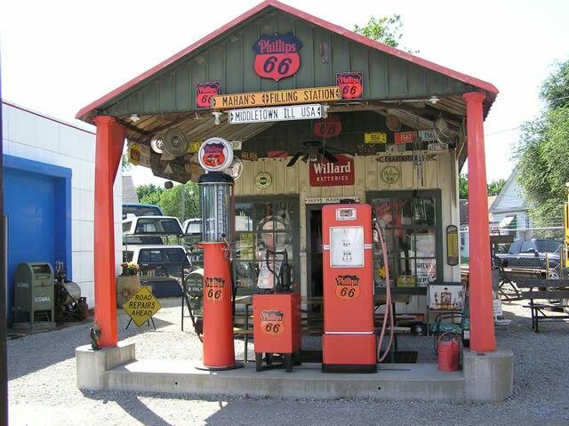 Vintage Gas Station Sign Pole | Gas Station