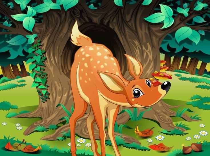 Cuento con valores: El ciervo caprichoso