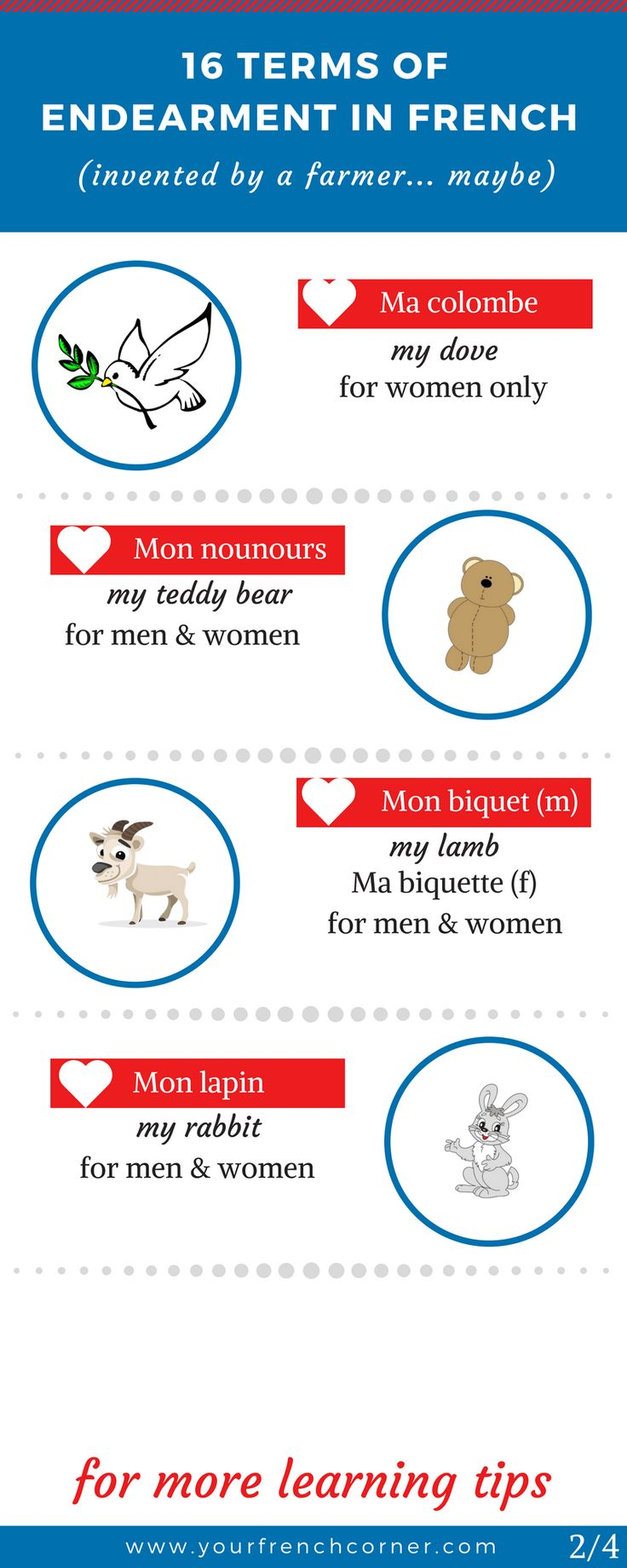 16 Unusual Endearment Terms In French (invented by a farmer… maybe) #learnfrench #fle #frenchimmersion