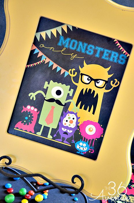 Monster Party and Free Printables at the36thavenue.com