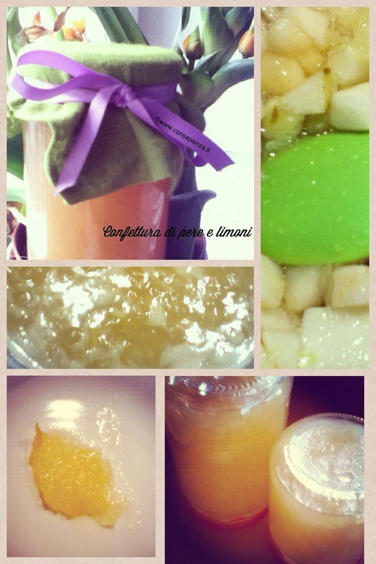 Confettura di pere e limoni