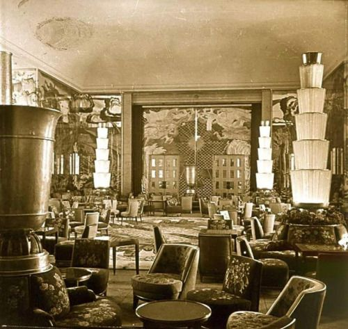 25 best ideas about ss normandie on pinterest vintage - Deco salon vintage ...