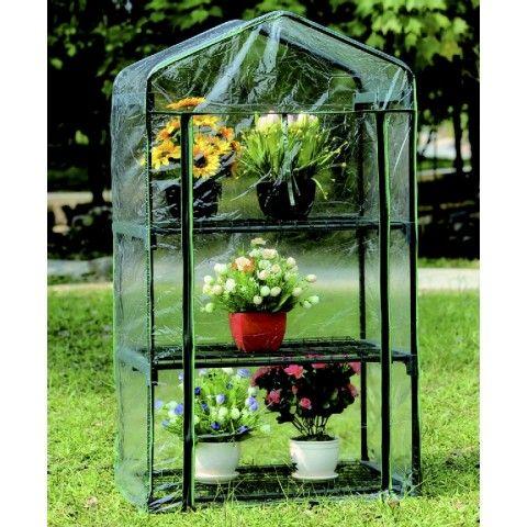Kjøp MINIDRIVHUS MED 3 HYLLER - GREEN>IT online hos BAUHAUS.  Minidrivhus med 3 hyl l er - Green > it Et smart lite hylledrivhus som er særlig velegnet til krydderurter og små blomster. Mini-drivhuset kan med