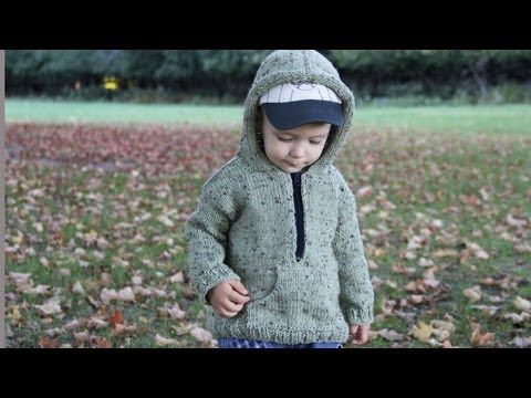 How to knit a hooded pullover for a child. Video tutorial with detailed instruction. - YouTube