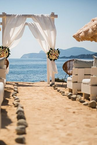 Experimental Beach Ibiza, beach wedding venue - www.ibiza-weddings-spain.com/experimental-beach-ibiza/