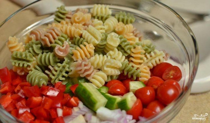 Итальянский салат с пастой - пошаговый рецепт с фото на Повар.ру
