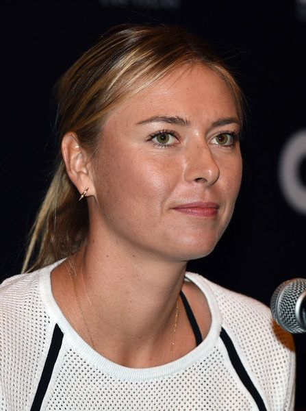 Maria Sharapova Photos Photos - Tennis player Maria Sharapova attends a news conference at the World TeamTennis Smash Hits charity tennis event benefiting the Elton John AIDS Foundation at The Colosseum at Caesars Palace on October 10, 2016 in Las Vegas, Nevada. - Sir Elton John and Billie Jean King Host the World TeamTennis Smash Hits Charity Event