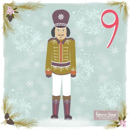Christmas Advent Challenge - Day 9 - Nutcracker by Rebecca Stoner www.rebeccastoner.co.uk
