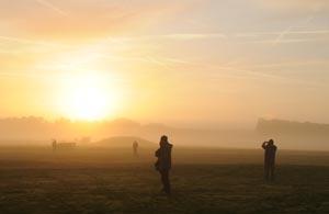 Stonehenge landscape photographed at the Autumn Equinox. Photo by Lara Ball