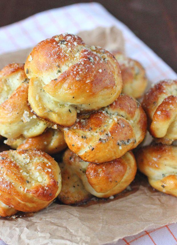 Pretzel Garlic Parmesan Knots Recipe - RecipeChart.com