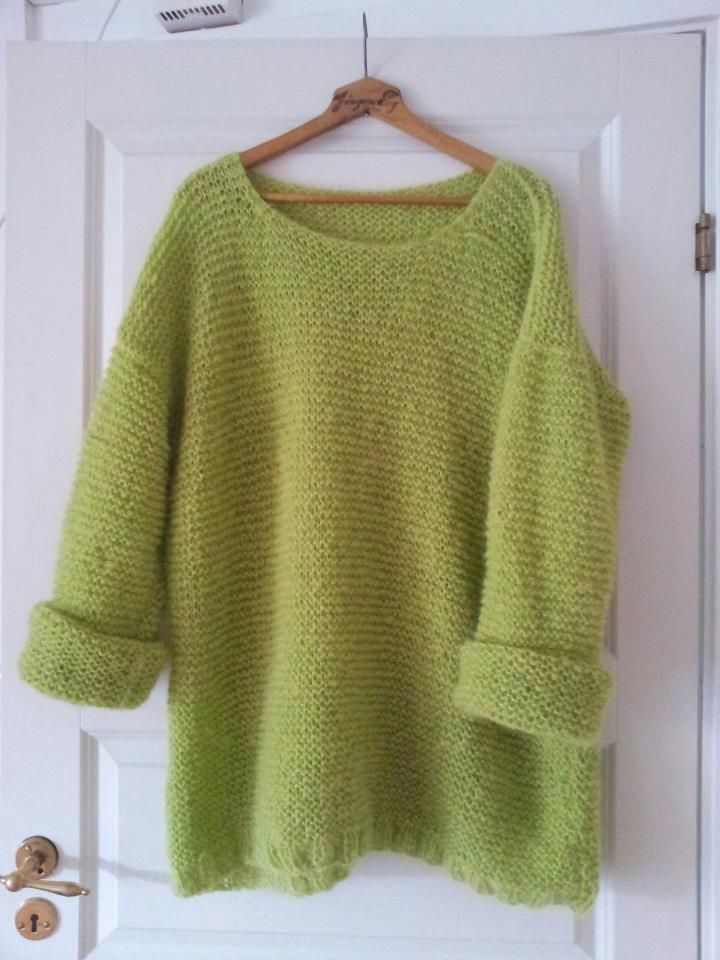 Lime green skappel sweater / skappelgenseren