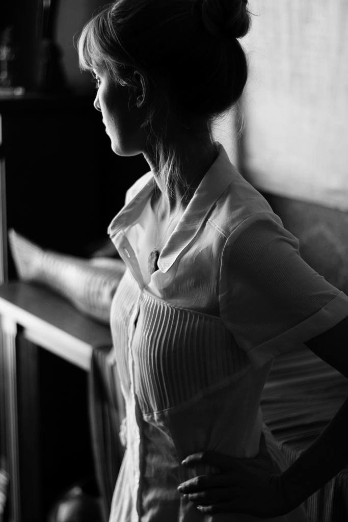 Pintuck Shirt dress