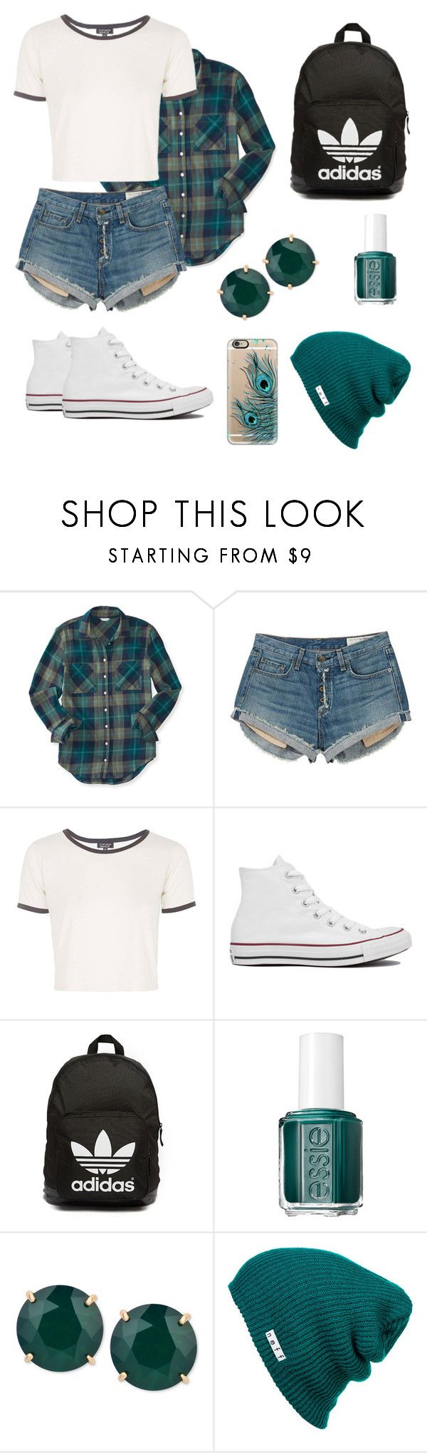 """Untitled #7"" by niki-demar ❤ liked on Polyvore featuring Aéropostale, rag & bone, Topshop, Converse, adidas Originals, Essie, T Tahari, Neff and Casetify"