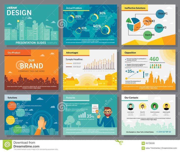 Presentation Slides Template. Infographics Stock Vector - Image ...