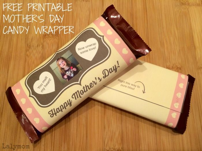 17 best images about candy bar wrappers on pinterest for Homemade edible mother s day gifts