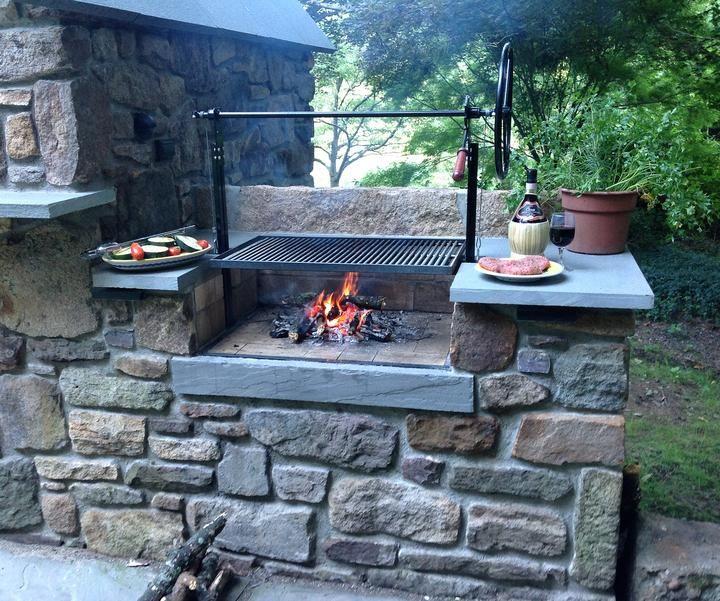 Braten Campfire Stainless Steel Grill Buiten Grillen Buitenkeukens Buitenkeuken