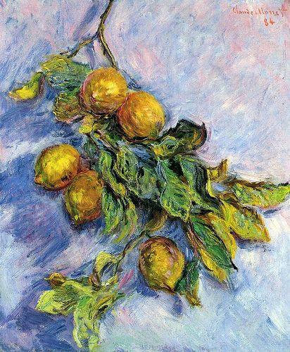 Citrons sur une branche (C Monet - W 888), 1884
