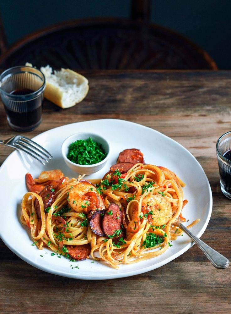 Prawn, Chorizo and Chilli Pasta