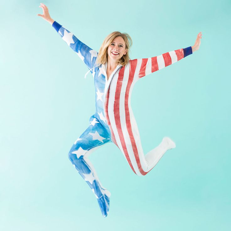 DIY Flag Onesies Just Like T-Swift and Her Girl Gang via Brit + Co