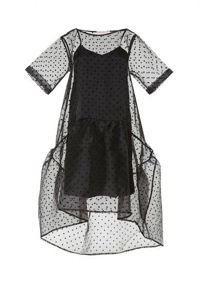 Платье OLGA SKAZKINA выполнено из органзы. Детали: свободный силуэт, без застежки. Платье-подклад...