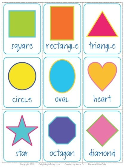 Shapes Learn English Pinterest