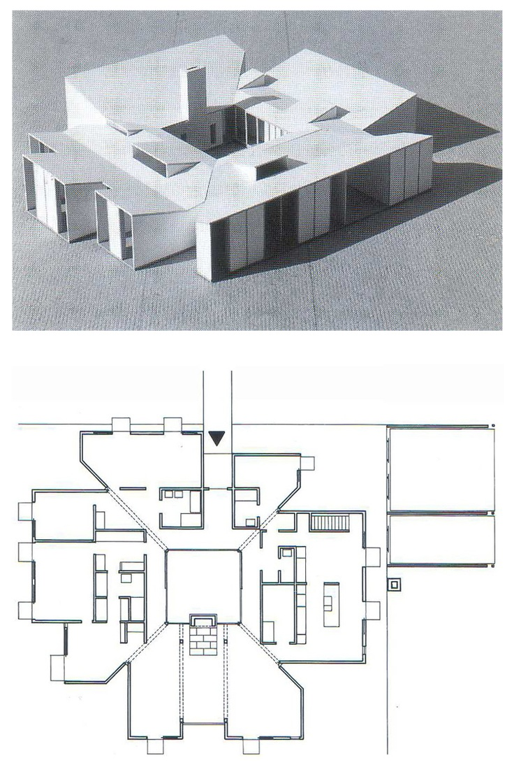 Model of Unbuilt Goldenberg House. Louis Kahn. 1959. Rydal, Pennsylvania