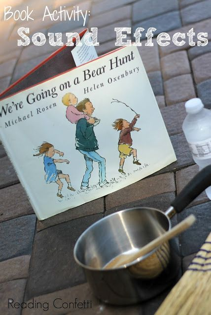 Sound activity for We're Going on a Bear Hunt. Great book to read to blind children to make it fun!