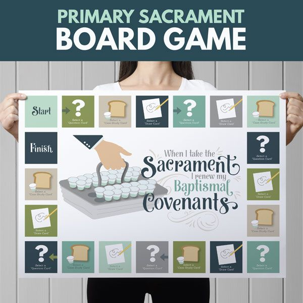 "Sacrament Game- ""When I Take the Sacrament I Renew My Baptismal Covenants.""  Perfect for Sharing Time or Family Home Evening"