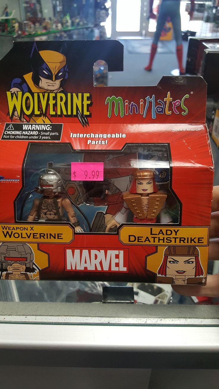Wolverine & Lady Deathstrike MiniMates