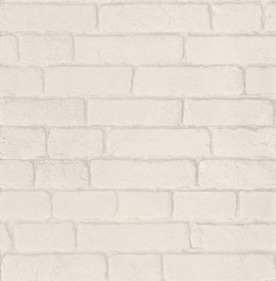 Brick (J30309) - Brewers Wallpapers - A photographic image of tiled white bricks - a coloured version is also available. Please request a sample for true colour match.