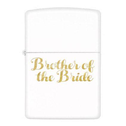 Brother of the bride gold zippo lighter - glitter glamour brilliance sparkle design idea diy elegant