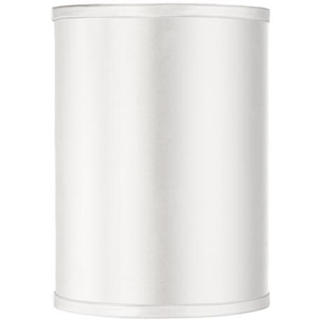 36 best lamp shades images on pinterest lamp shades lampshades sydnee satin white cylinder lamp shade 8x8x11 spider mozeypictures Choice Image