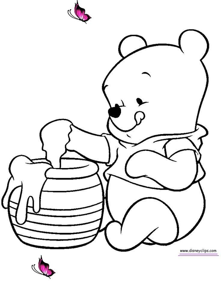 Baby Winnie The Pooh And Friends Coloring Pages Br Malarbocker Malarbok Ritider