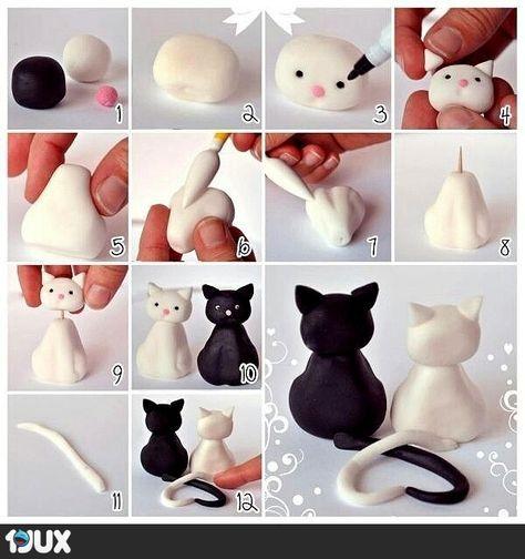 Verliebte Katzen aus FIMO