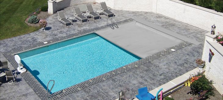 Automatic swimming pool cover pool warehouse pool