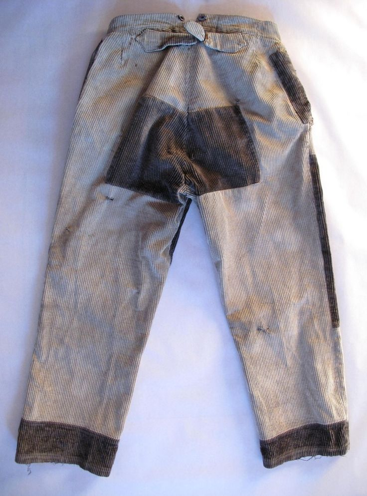 Image of <b>1930's Faded & Patched French Corduroy Work Pants</b>