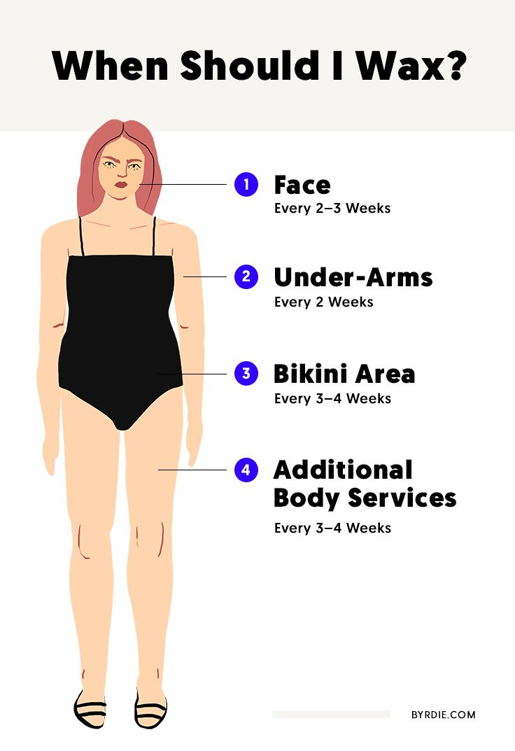 Experts reveal the best timeline for waxing your body parts. See it here.