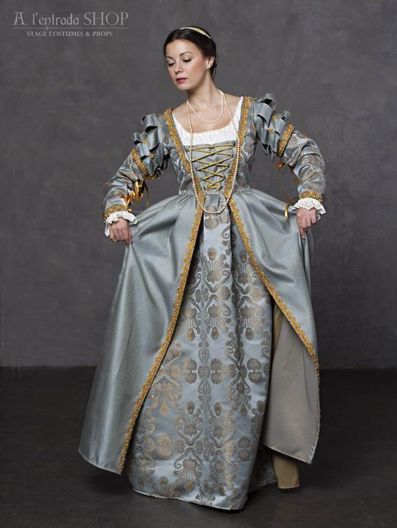 renaissance dress early 16th century historical dress italian etsy