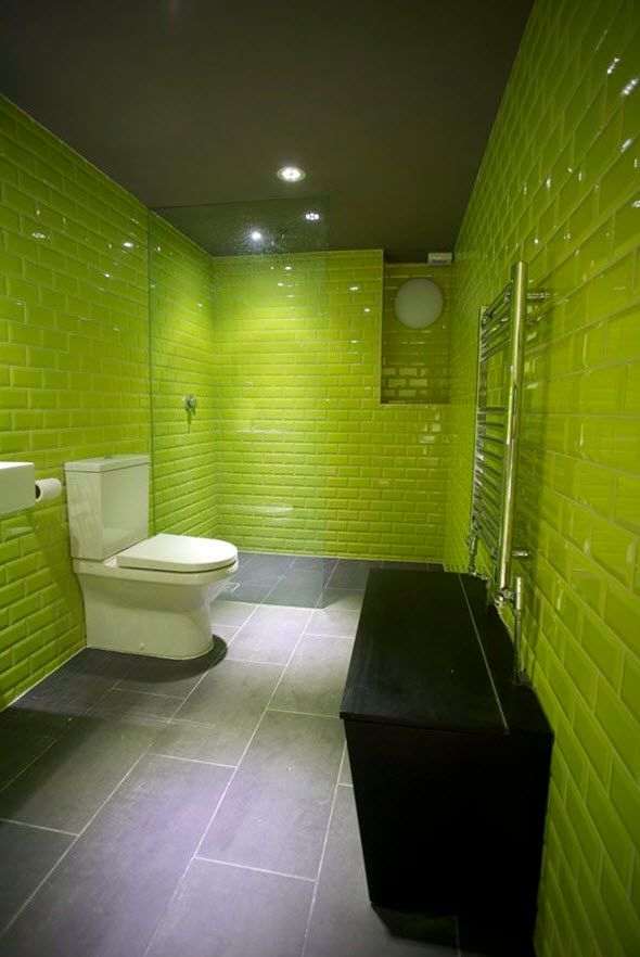 35 Lime Green Bathroom Wall Tiles Ideas And Pictures