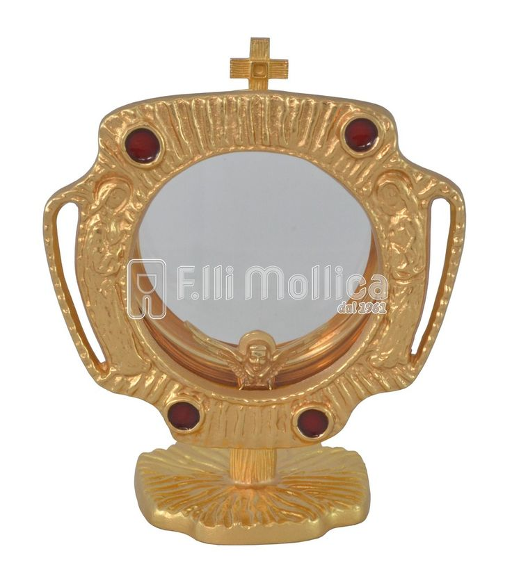 Chapel Monstrance with the Angels in Adoration and Red Enamel
