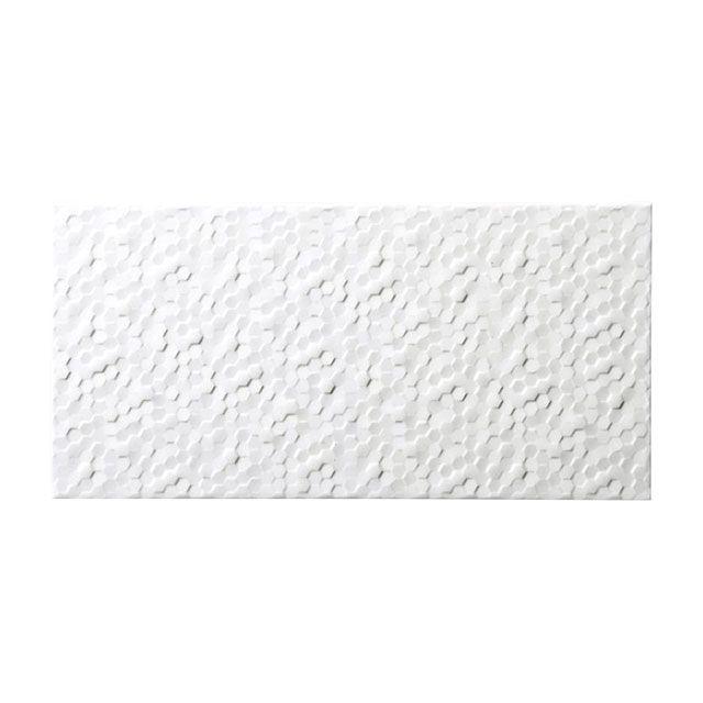 Carrelage mural blanc 20 x 40 cm hexa nuzzi castorama for Carrelage metro blanc castorama
