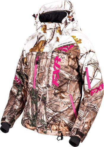FXR Women's FRESH JACKET - CAMO (2016).Realtree Xtra-APHD Snow.