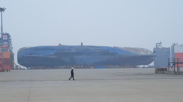 The wreck of the ferry Sewol has safely arrived at the port of Mokpo, South Korea, several days ahead of schedule and several weeks before the third anniversary of her sinking. http://maritime-executive.com/article/park-geun-hye-arrested-as-sewol-arrives-in-port