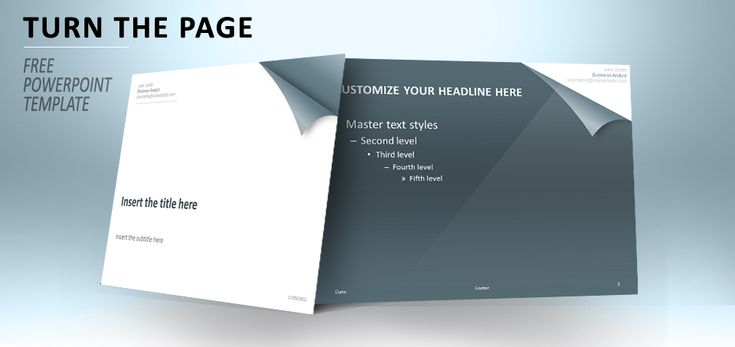 Turn The Page - Template for PowerPoint (Steel Blue)