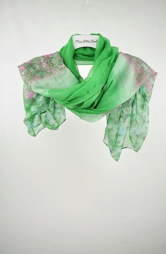 Hey, I found this really awesome Etsy listing at https://www.etsy.com/listing/231761197/green-scarf-floral-scarf-scarf-with
