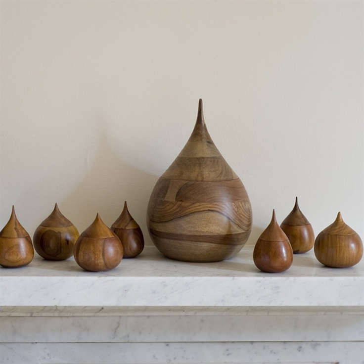 Teardrop Vessels made from hand turned Sheesham wood