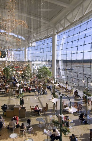 Seattle Airport ~ love those rocking chairs...